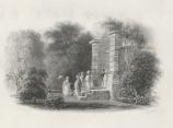John Le Keux's engraving of original entrance