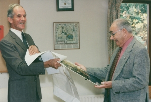 Peter Orriss retires in 1987